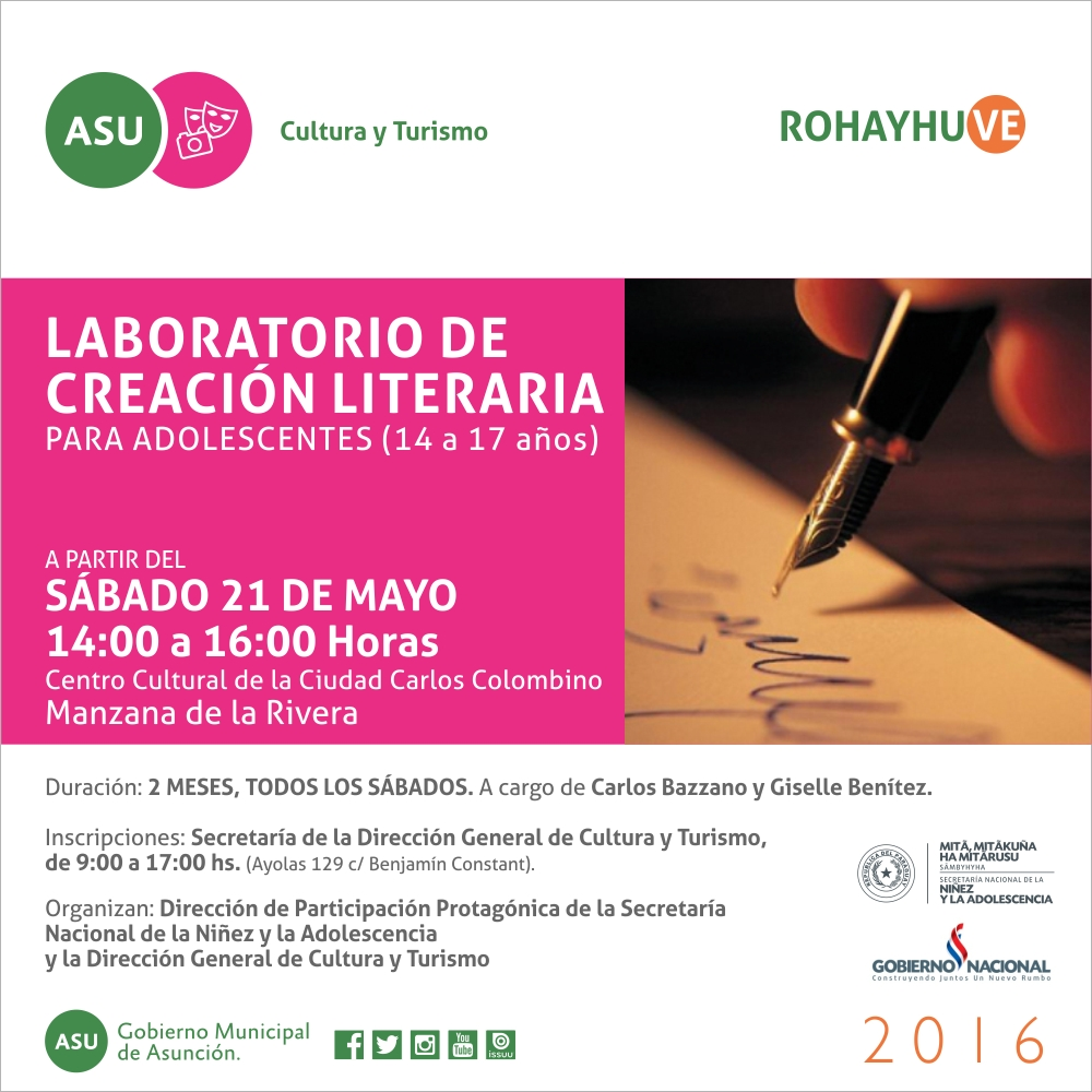 FLYER LABORATORIO LITERARIO