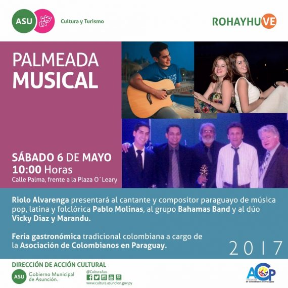 Palmeada Musical frente a la Plaza O'Leary